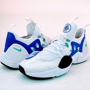 Nike Huarache EDGE TXT White Royal Blue Shoes NEW